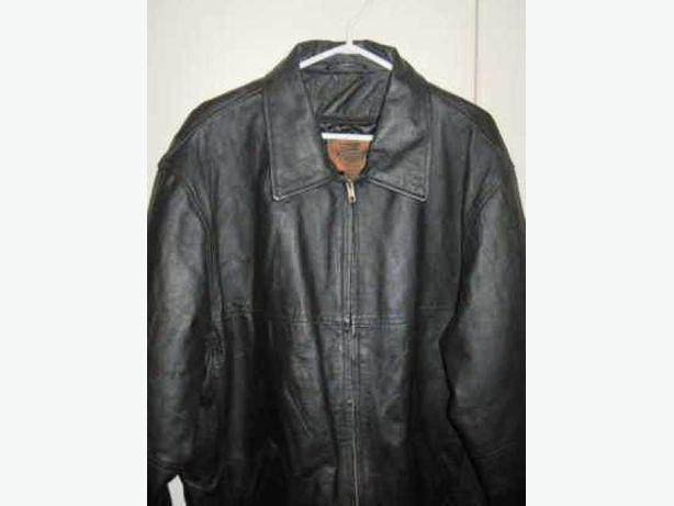 Authenticity Mens Black Leather Jacket Made in Canada Size XL