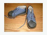 Souris Mini Leather Shoes Boots Size 24 month - $4
