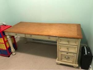 Large Cream Coloured Country Style Desk