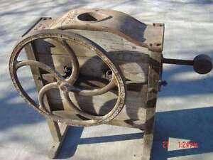 corn sheller,rusted crank farm machinery, chaff cutter wtd