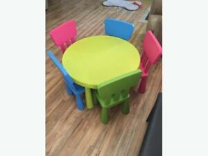 IKEA Mammut Kids Table with Chairs