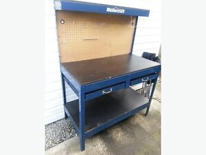 Tool bench and chest and chart trade for 9 draw chart