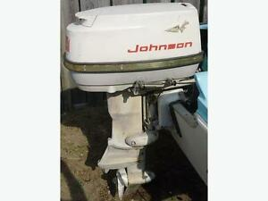 Johnson 28 hp outboard 1963