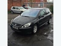 £400 selling my Peugeot 307 black colour MOT February 2017
