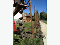 FENCE POST HOLE DRILLING & SETTING