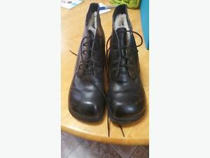 Black Dressy lace up winter boots Regina Regina Area image 1