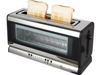 RUSSELL HOBBS 2-Slice Glass Line Toaster