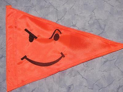 Custom Sassy Smiley Safety Flag 4  ATV UTV JEEP Trike  dirtbike Dune Whip Pole  (Atv Safety Flag)