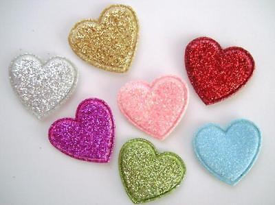 Die Cut Heart Shape - 70 Loose Glitter Heart Shape Applique/cute/Die Cut/Scrapbooking/Paper Craft H112