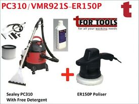 SEALEY PC310 VALET MACHINE & CARPET CLEANER / DETERGENT & ER150P