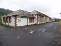 large building with big yard to let ideal for car storage ect MERTHYR VALE