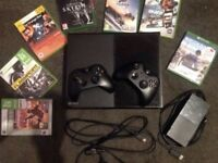 Xbox one with 2 controllers and games