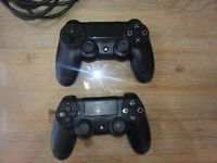 2 PS4 CONTROLLERS (FAULTY) £50 OR £25 FOR ONE ( USE FOR PARTS OR SMALL FIX JOB FOR USE)