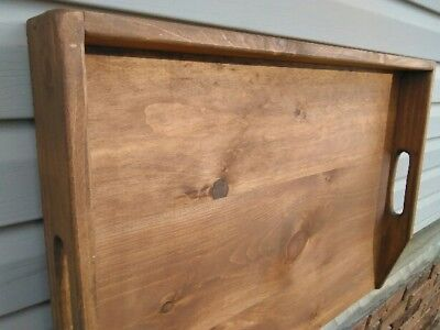 Primitive Stove Cover Noodle Board Hand Crafted Walnut Stain wood NEW