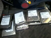 A bundle of 500gb/320gb/160gb hard drives for desktops and laptops