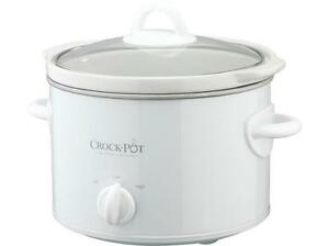 Rival Crockpot, white 2.5QT for 2-4 people, like new.  $20