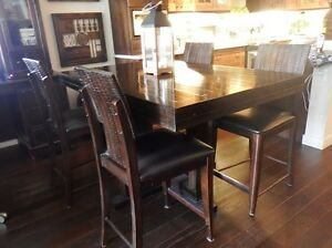 RUSTIC IMPORTED PUB TABLE & CHAIRS - MOVING SALE!!