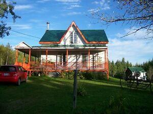 maison fermette 23 acres 28 arpents 1 million pied carré