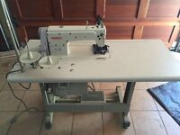GEM 8500 High Speed Lock Stitch Sewing Machine complete in it's Table with Light and Accessories