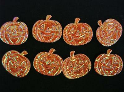 50 Halloween Jack O Lantern Orange Pumpkin Applique/motif/Paper Craft - Halloween Paper Lanterns Crafts