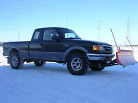 1995 Ford Ranger XLT Pickup Truck with Plow