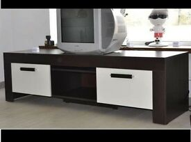 Caesar: 2 Door TV Stand Brown/White *NEW*