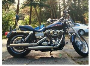 2007 FXDL Pearl Black Harley for Sale