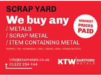 We pay £1440/T for household CABLES !! £1050/T for ALUMINIUM !! 4000£/T for COPPER !! Ktw Metals LTD