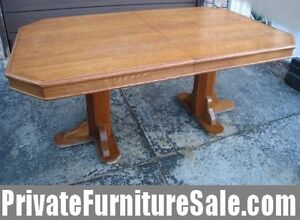 Great Large Oak Wood Dining Table,quite good cond,delivery for$$