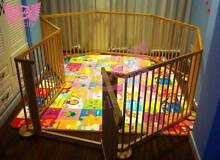 Kids Multi purposes Deluxe Natural Wooden Playpen 8 Panels Gates Craigieburn Hume Area Preview