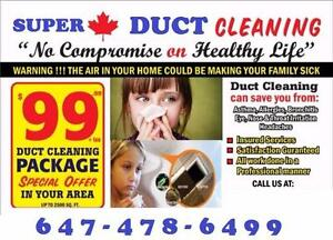 SUPER OFFER |  $99  | Complete Ducts & Vents Cleaning
