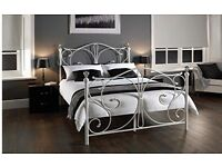 White french style double bed