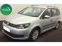 £265.60 PER MONTH SILVER 2013 VW TOURAN 1.6 TDI BMT S DIESEL MANUAL 7 SEATER