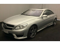 SILVER Mercedes-Benz CL 63 AMG 5.5 544 BHP COUPE FULL SPEC FROM £175 PER WEEK!