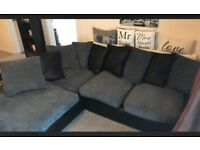 Corner sofa black and grey
