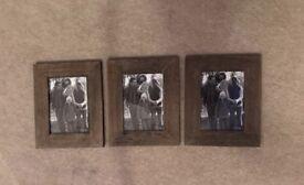 3 Wooden Frames
