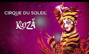 4 x tickets Cirque du Soleil KOOZA Perth - 7th May Bassendean Bassendean Area Preview