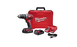 Milwaukee Tool M18 18V Li-Ion Crdls Hammer Drill and Impact