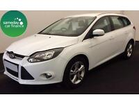 £184.45 PER MONTH WHITE 2013 FORD FOCUS 1.6 TI-VCT ZETEC P/S ESTATE AUTO