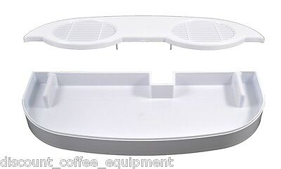 Bunn 28086.0000 Lower White Drip Tray Assembly And Bunn 32068.0000 Cover Ultra 2