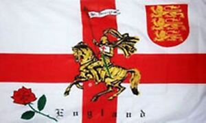 5' x 3' Rose Lion St George Cross Knight Flag English England Saint Georges Day