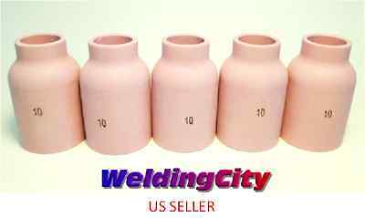 5-pk Tig Welding Large Gas Lens Ceramic Cup 53n88 10 Us Seller Fast Ship