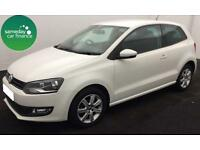 £110.50 PER MONTH WHITE 2012 VOLKSWAGEN POLO 1.2 MATCH 3 DOOR PETROL MANUAL
