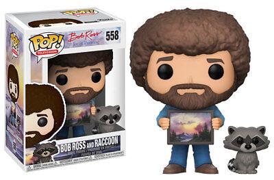 Funko Pop  Tv  Bob Ross   Bob Ross  W  Raccoon Vinyl Figure In Stock