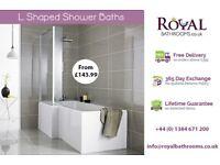 Royal L Shaped Shower Baths for Sale