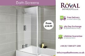 Curved Bath Screen with Rail available for Sale
