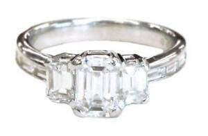 1.02ct D colour SI1 clarity 3 Stone Emerald Cut Diamond Ring Bondi Junction Eastern Suburbs Preview