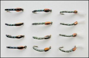12 epoxy buzzer trout fly fishing flies sparkle 3 types for Types of fly fishing flies