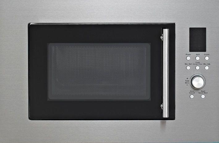 PKM MW900-23G-IN Einbau Mikrowelle 900 Watt Edelstahl 23 Liter Grill mit Blende
