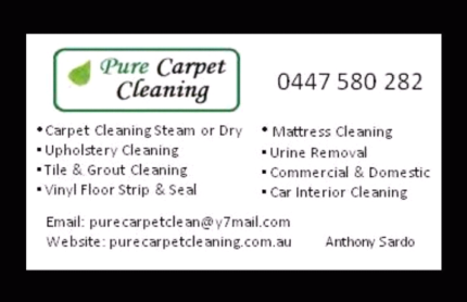 Pure Carpet Cleaning | Craigieburn | Greenvale | Campbellfield Epping Whittlesea Area Preview
